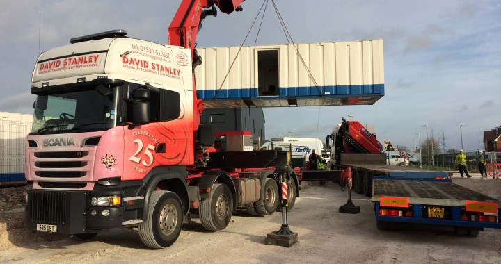 Modular Porta Cabin building moving lifting transport