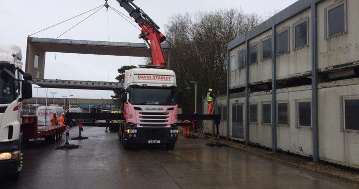 Modular Porta Cabin building moving lifting transport