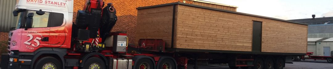 Modular building moving lifting transport